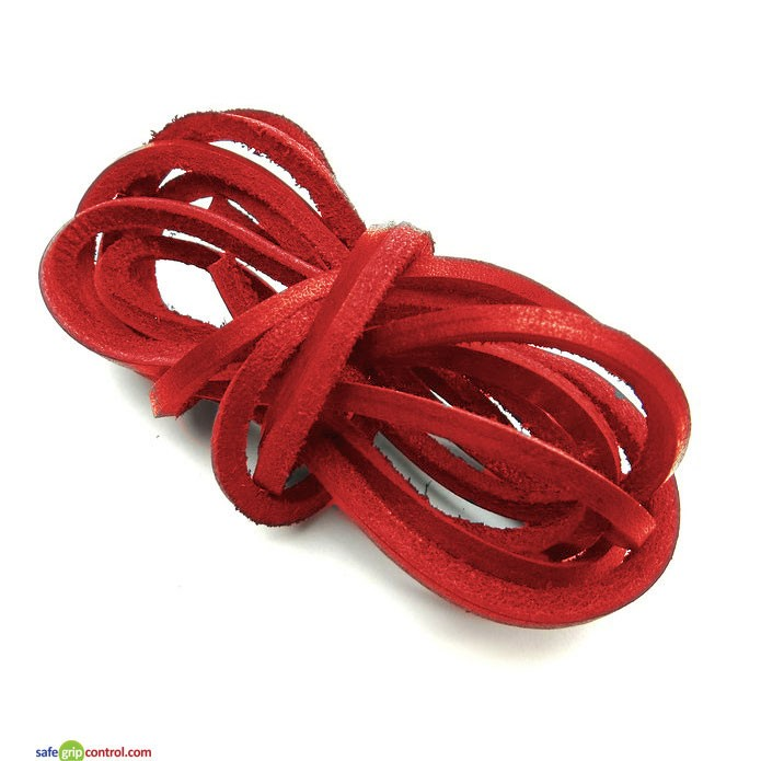 Red Leather Boat Shoe Laces 120cm (47in)