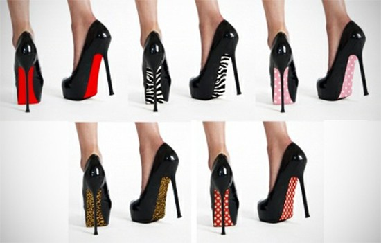 low priced 629dd 8205f Red Sole Shoe Stickers Instant Christian Louboutin Look