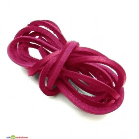 Fuchsia Leather Shoelaces for Boat Shoes (47in) 120cm