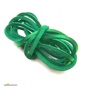 Green Leather Shoelaces for Boat Shoes (47in) 120cm