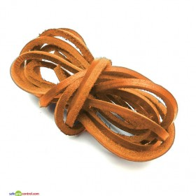 Light Brown Leather Shoelaces for Boat Shoes (47in) 120cm